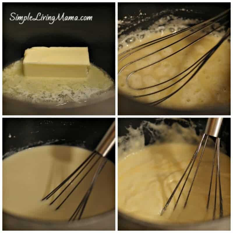 making cheese sauce