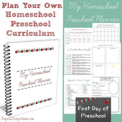 Plan Your Own Homeschool Preschool Curriculum