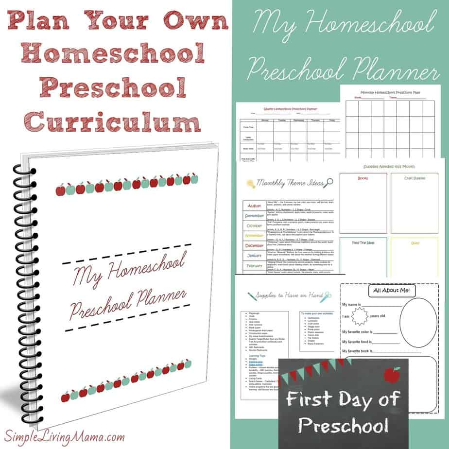 preschool curriculum program literature and 5 days of 473