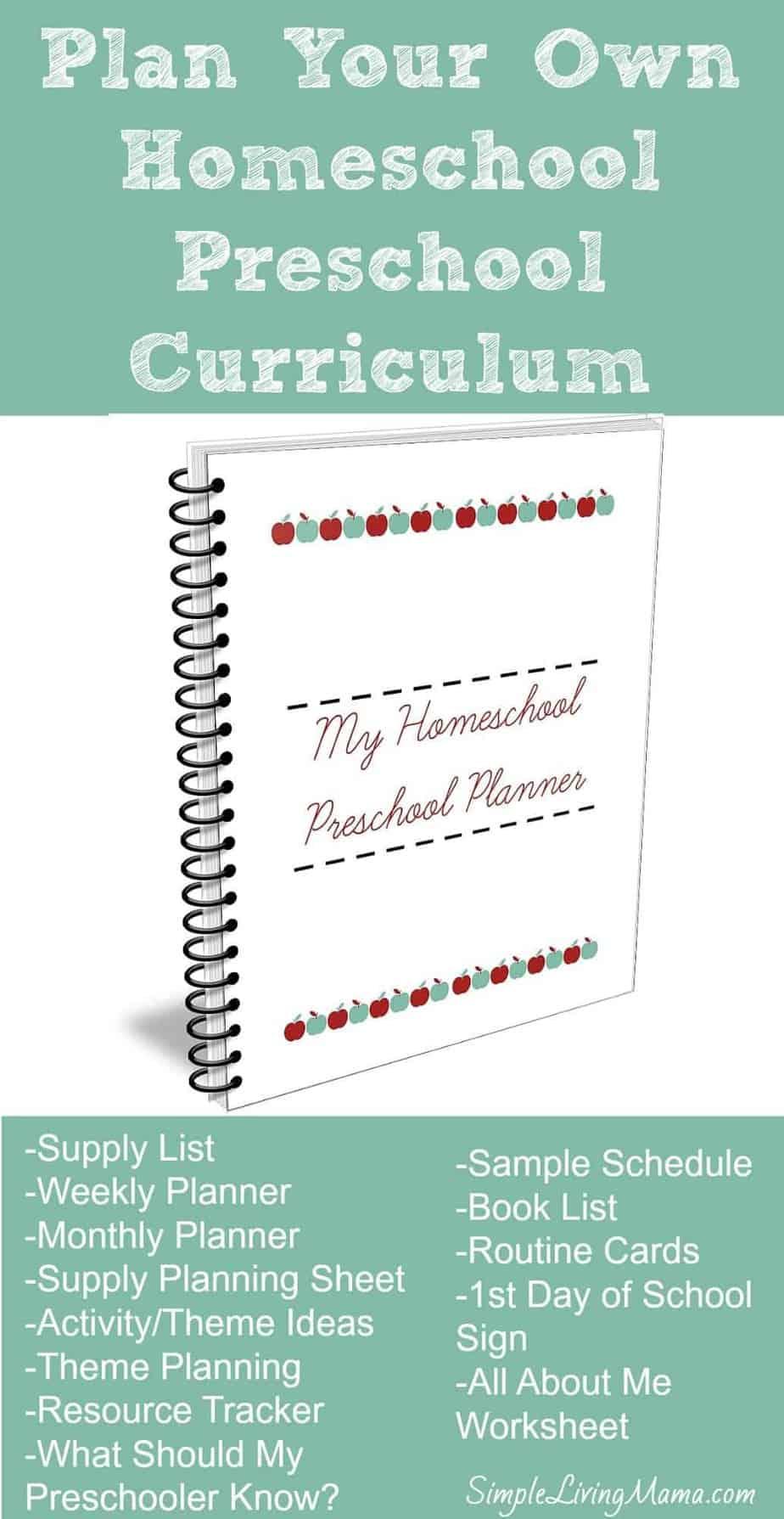 Plan Your Own Homeschool Preschool Curriculum with My Homeschool Preschool Planner!