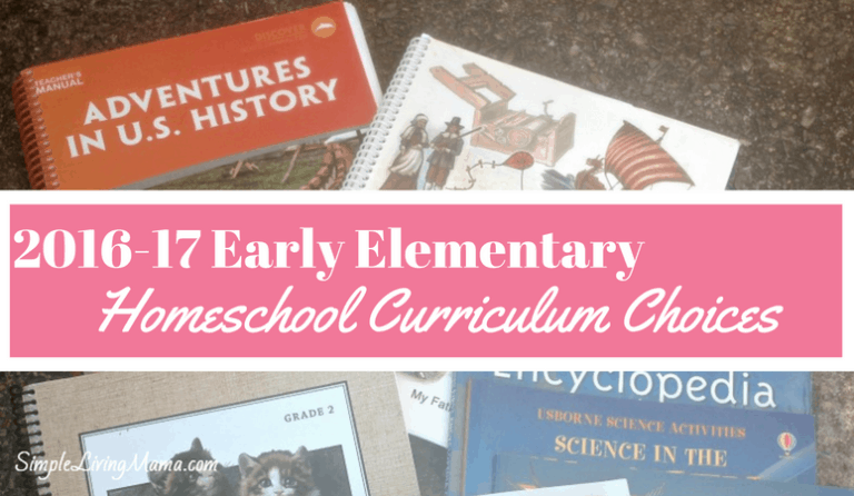 Homeschool Curriculum Choices 2016-17
