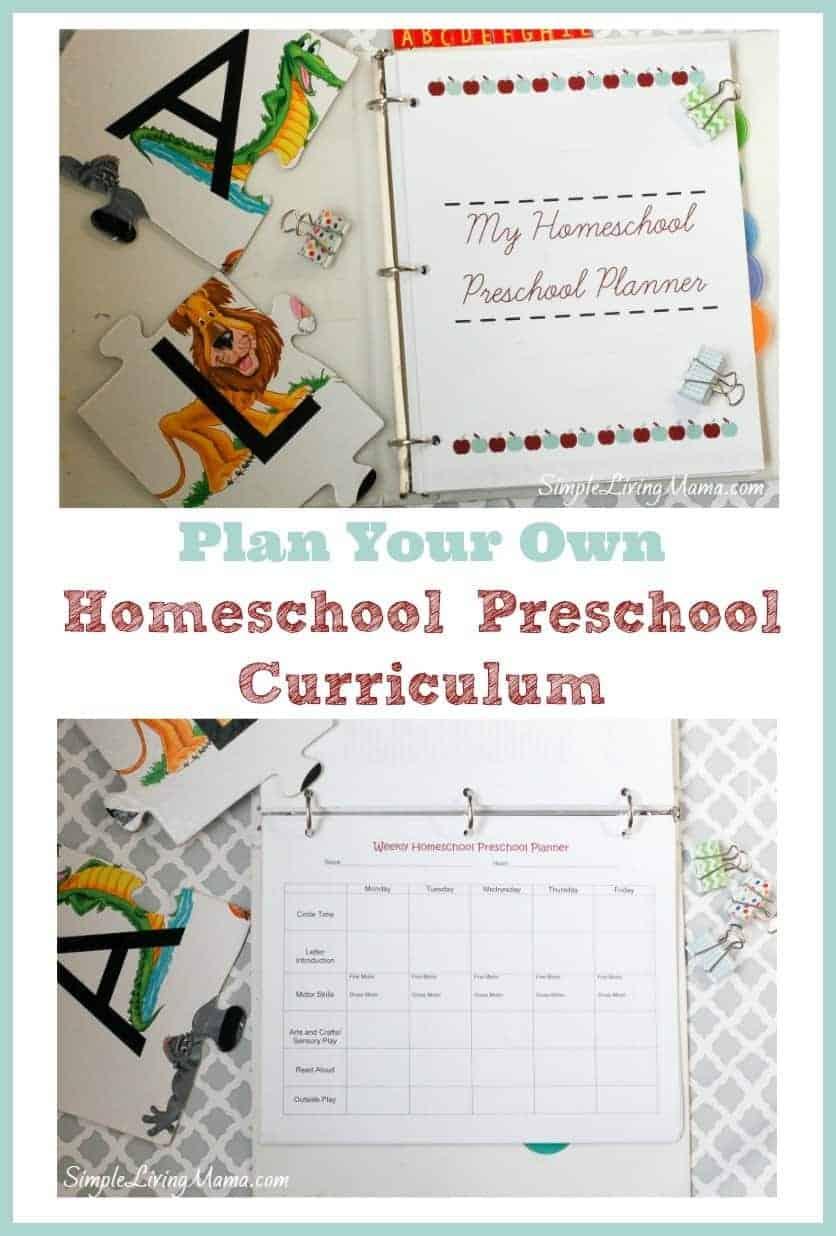 my homeschool preschool planner