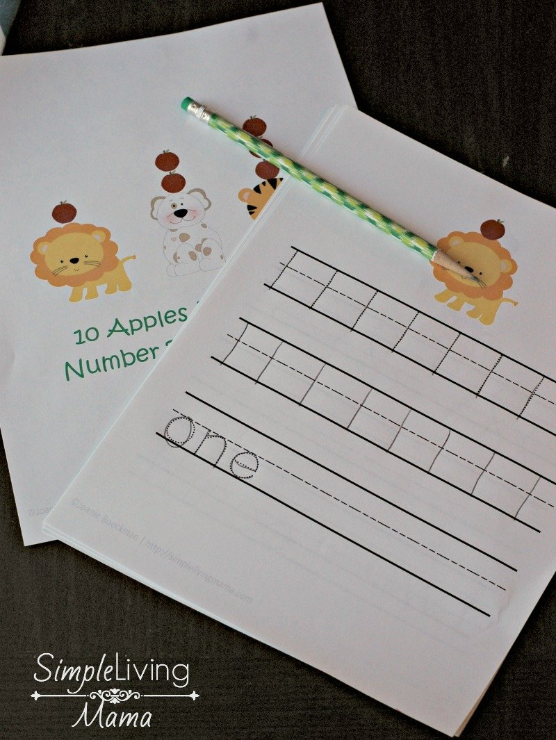 Ten Apples Up On Top Number Tracing Pages