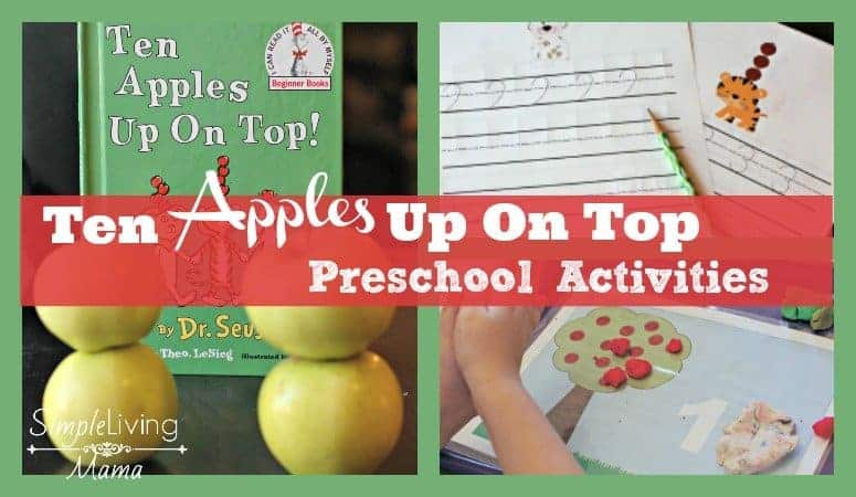 Ten Apples Up On Top Preschool Activities