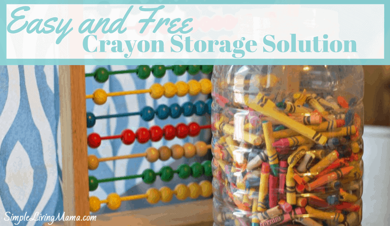 Easy and Free Crayon Storage Solution