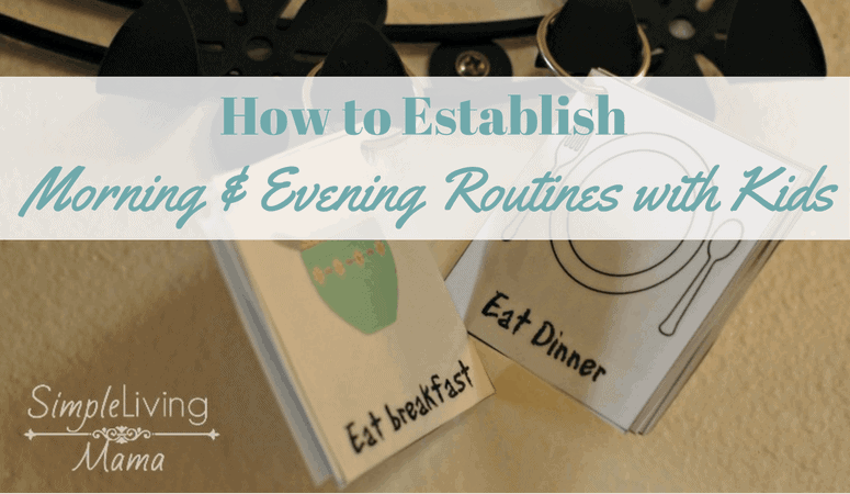 How to Establish Morning and Evening Routines for Kids