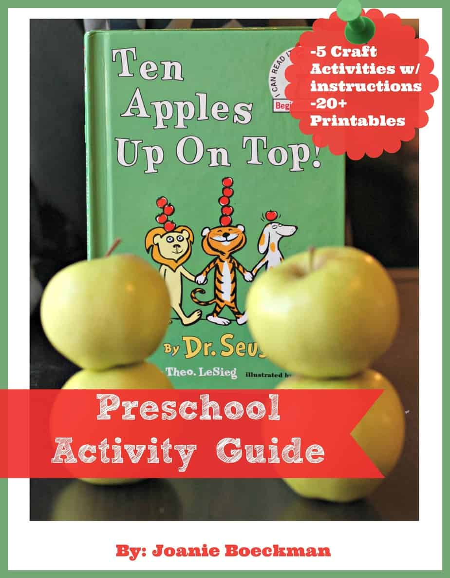 Ten Apples Up On Top Preschool Activity Guide - Five awesome activity ideas with instructions and 20+ printables for your preschooler.