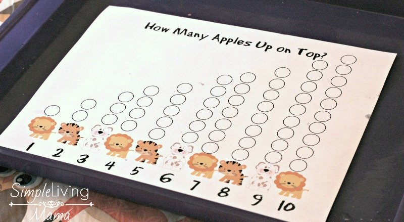 Apple finger painting page to go along with Ten Apples Up On Top