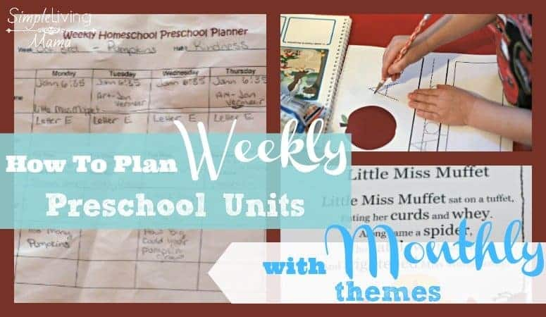 How to plan weekly preschool units using monthly themes.
