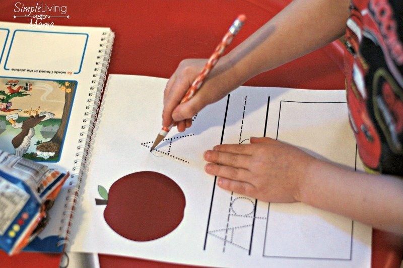 Letter practice for preschool units.