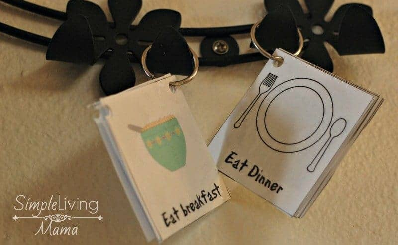 morning and evening routine cards help children establish routines on their own.