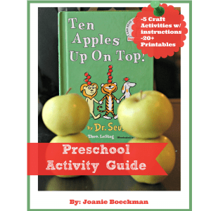 Ten Apples Up On Top Preschool Activity Guide will help you extend the learning of this classic children's book!