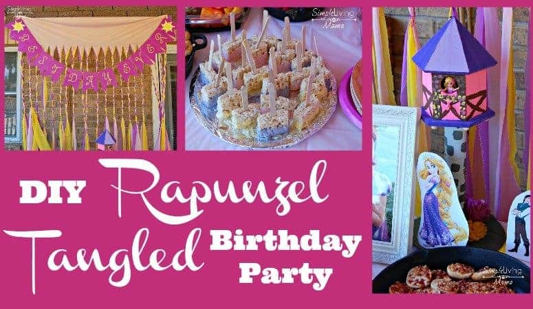 DIY Rapunzel Tangled Birthday Party