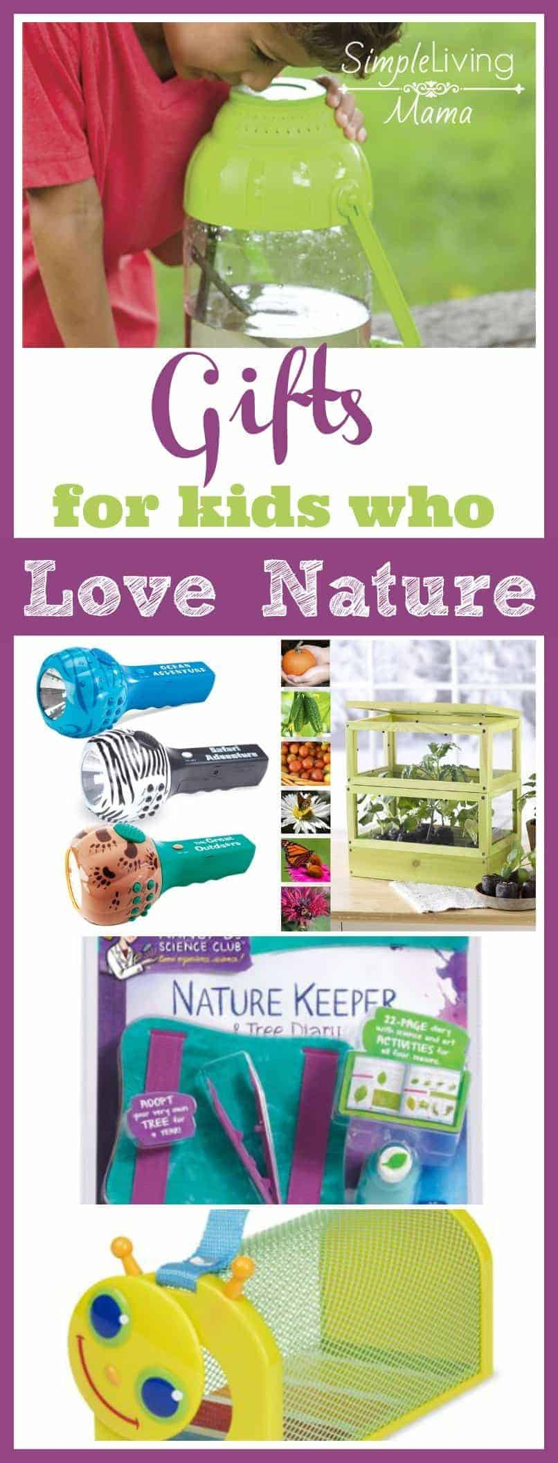 Does your child love to explore outside? Find the perfect present with these gifts for kids who love nature!