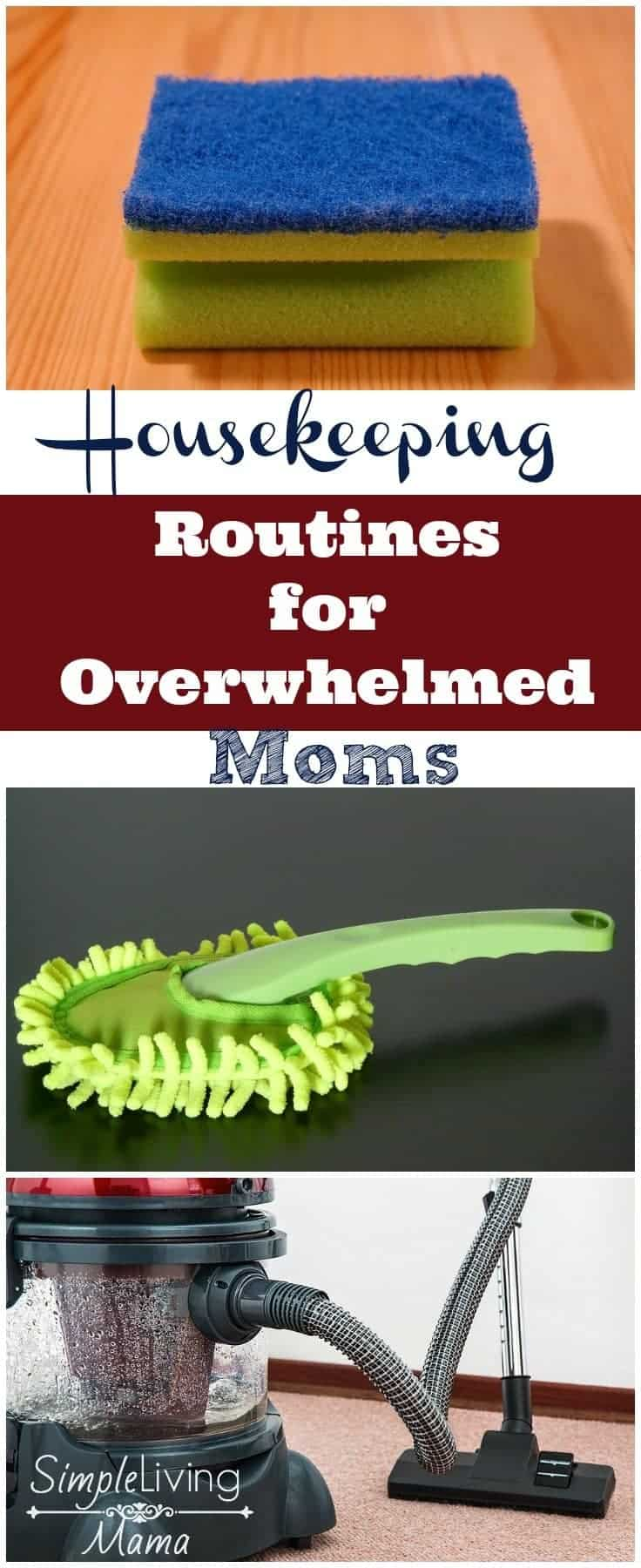 Need a hand getting on top of the houseworking? These housekeeping routines for overwhelmed moms will help you get control of your home!