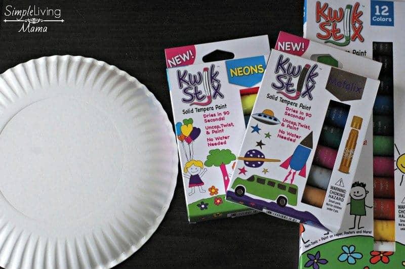 Kiwk Stix and Paper Plate