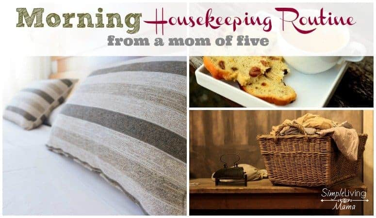 My morning housekeeping routine
