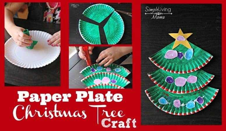 paper plate christmas tree craft simple living mama paper plate christmas tree craft