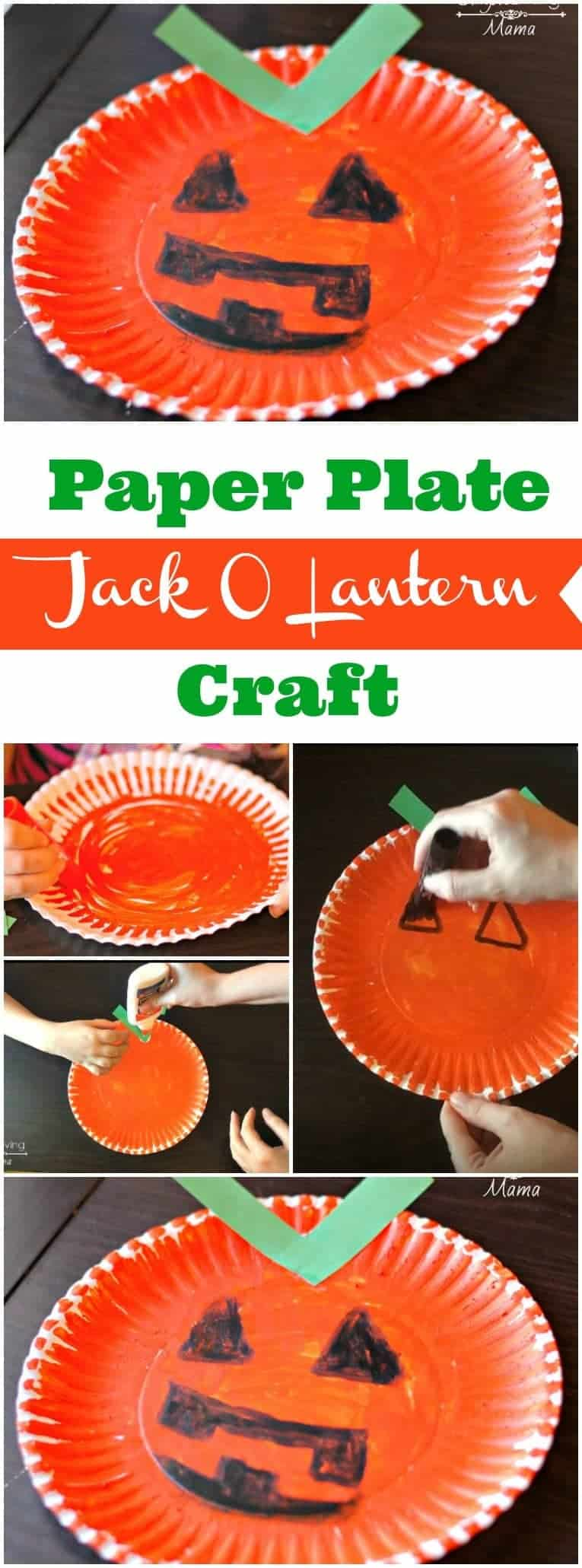 A DIY paper plate Jack O Lantern craft for kids that is so easy and fun to do!