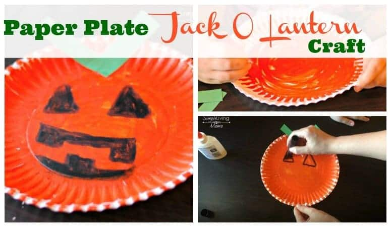 Paper Plate Jack O Lantern