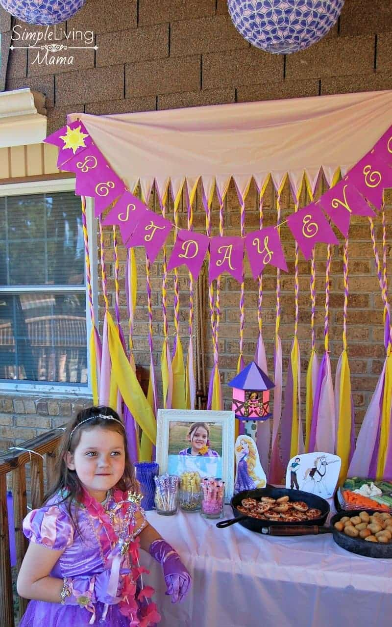 Tangled birthday party girl