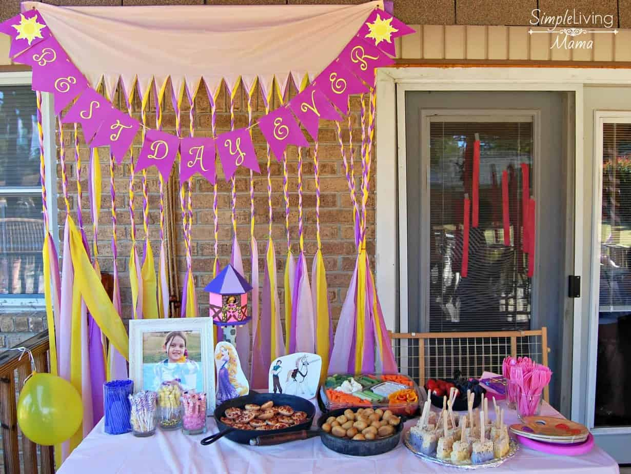 Tangled party set up
