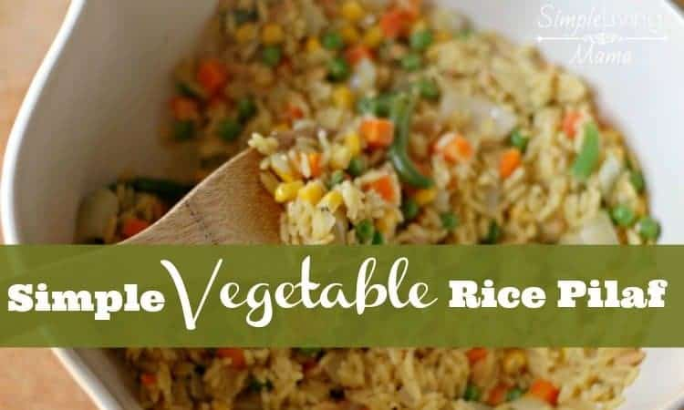 A simple vegetable rice pilaf recipe.