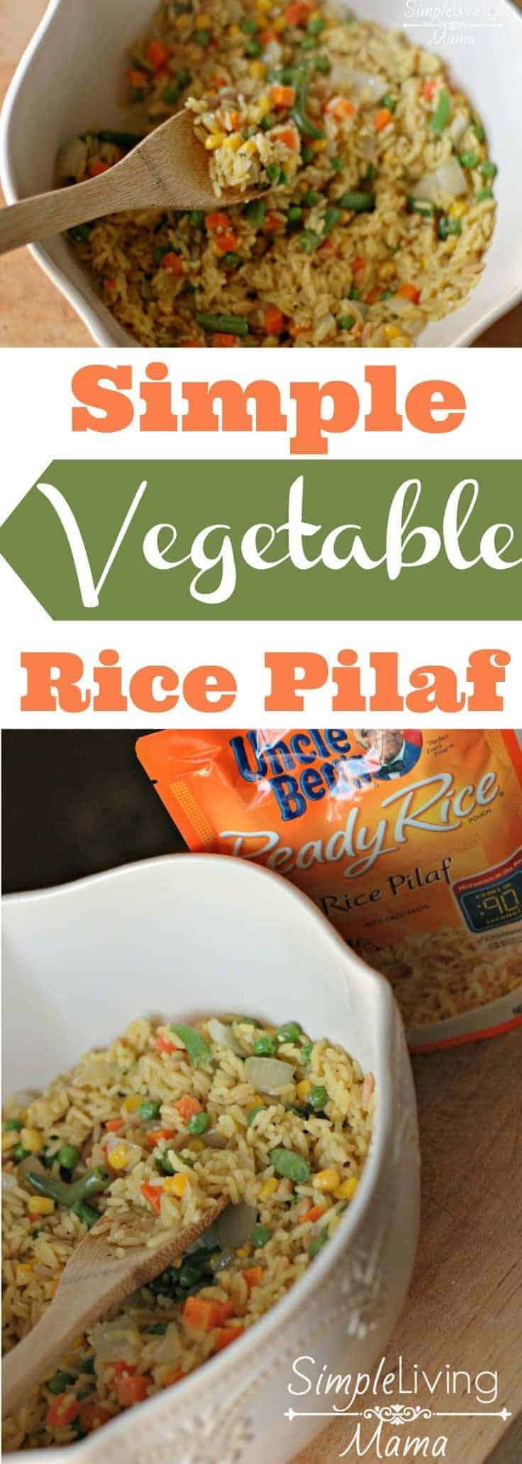 A simple vegetable rice pilaf recipe that even your children can help you make!