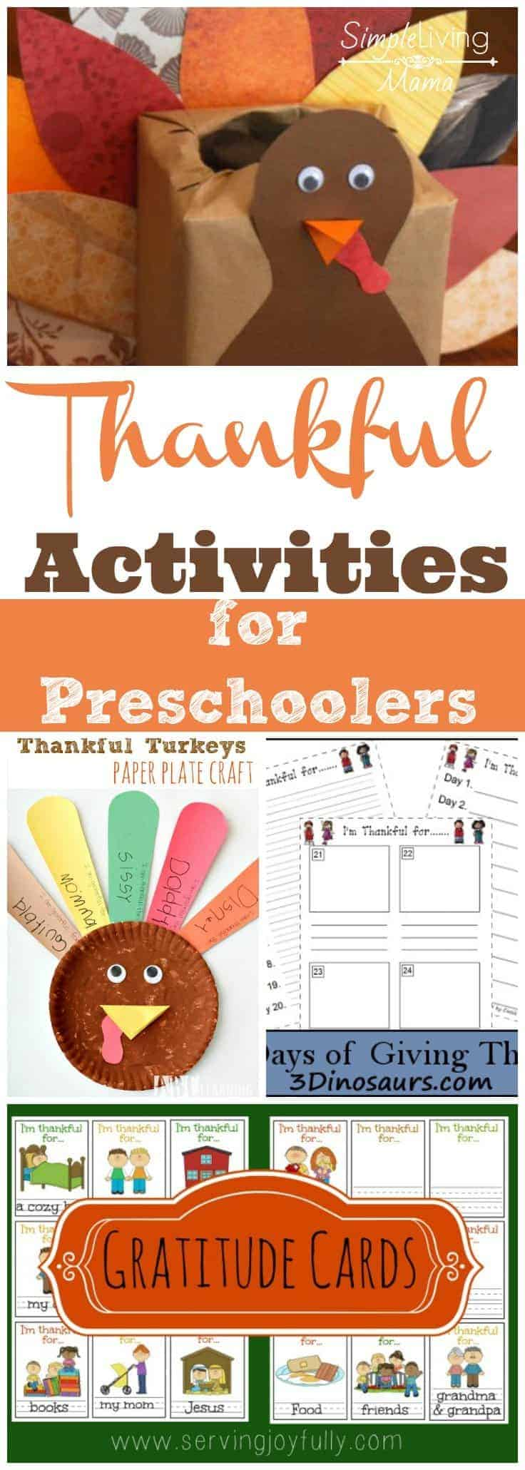 Thankful Activities for Preschoolers - A great way to help your preschooler express thankfulness!