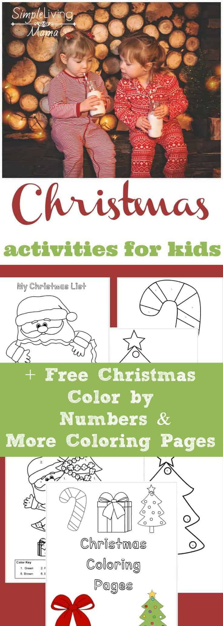Christmas Activities for Kids + Free Printable Christmas Color By ...