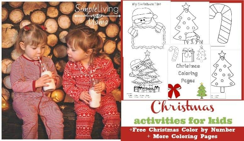 Christmas Activities for Kids + Free Printable Christmas Color By Number Pages
