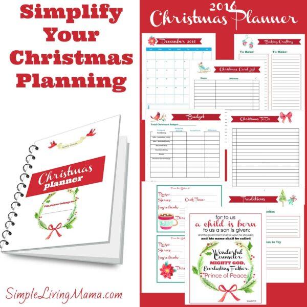 2016 Christmas Planner
