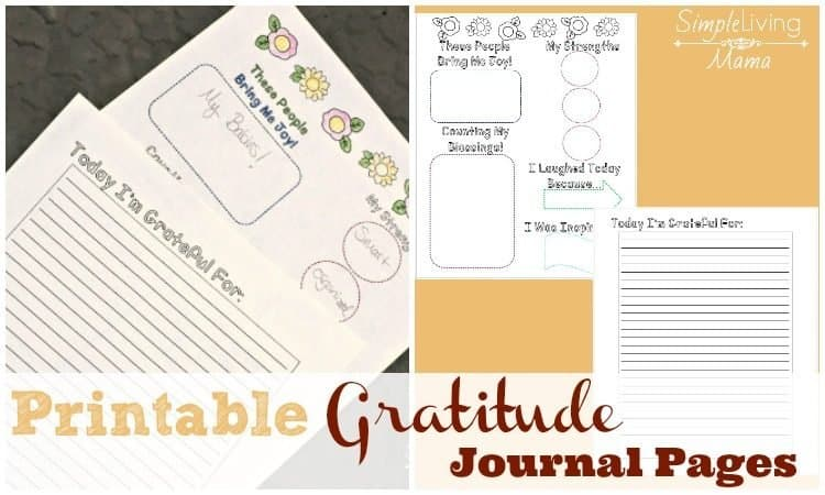 Printable Gratitude Journal Pages