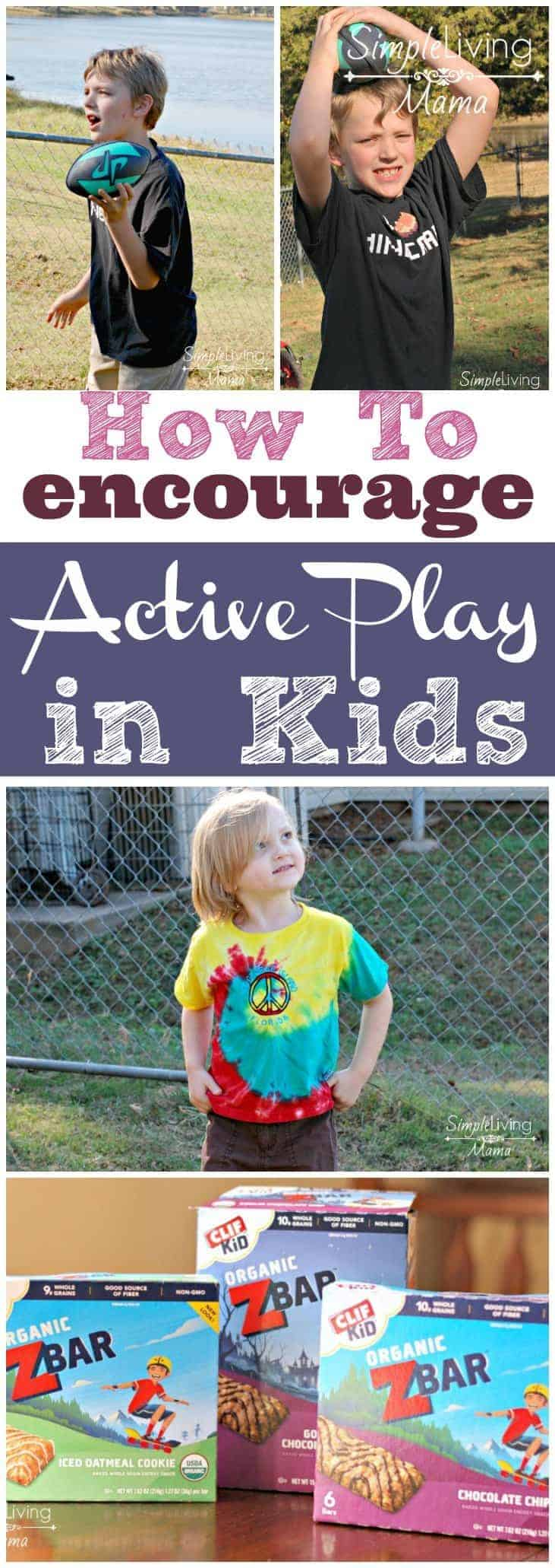 Active play is so important for children. Here are five tips for encouraging active play in your kids.