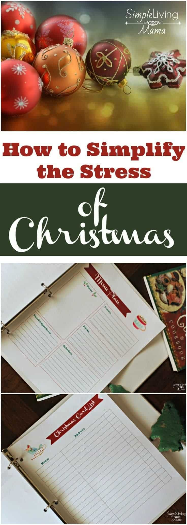 Don't let Christmas stress you out this year! Plan ahead and simplify the stress.