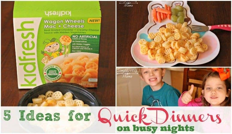 5 Quick dinners for busy familiies