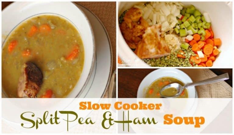 Slow Cooker Split Pea Soup and Ham
