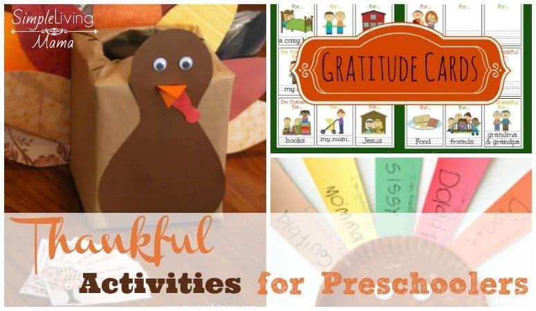 Thankful Activities for Preschoolers