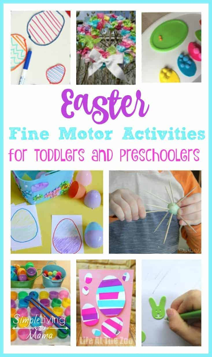 Easter Fine Motor Activities for Toddlers and Preschoolers
