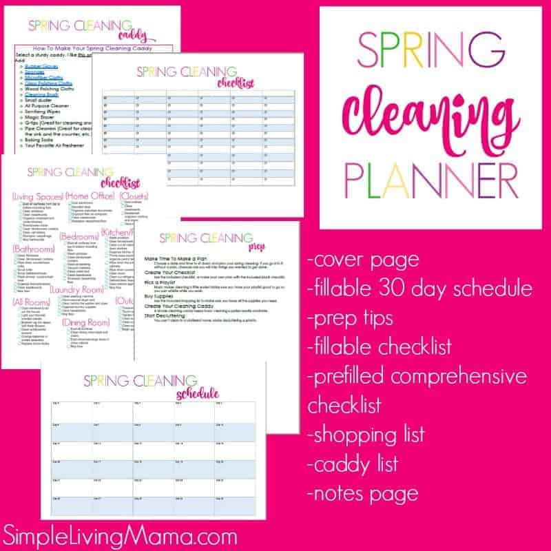 Spring Cleaning Planner - Simple Living Mama