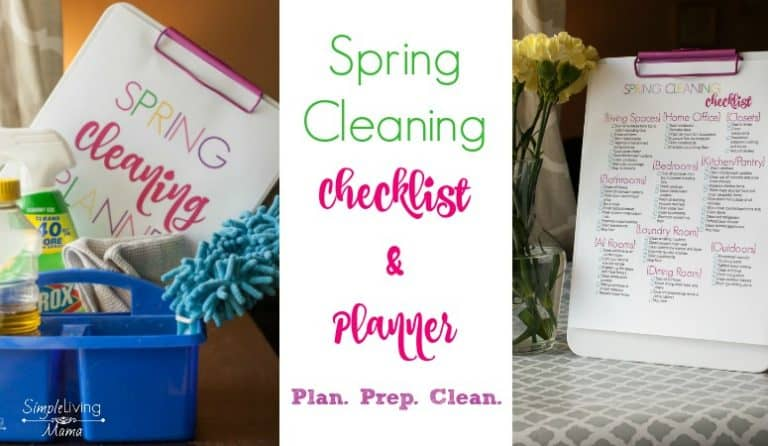 Spring Cleaning Checklist and Planner