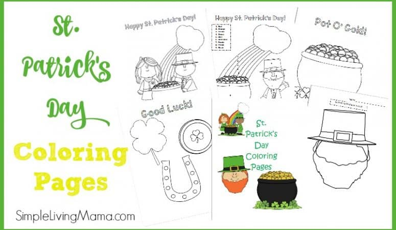 St. Patrick's Day Color By Number Page and Coloring Pages