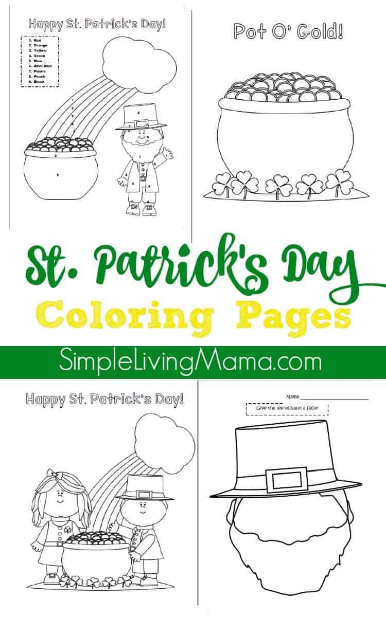 st patrick u0027s day color by number page and coloring pages simple