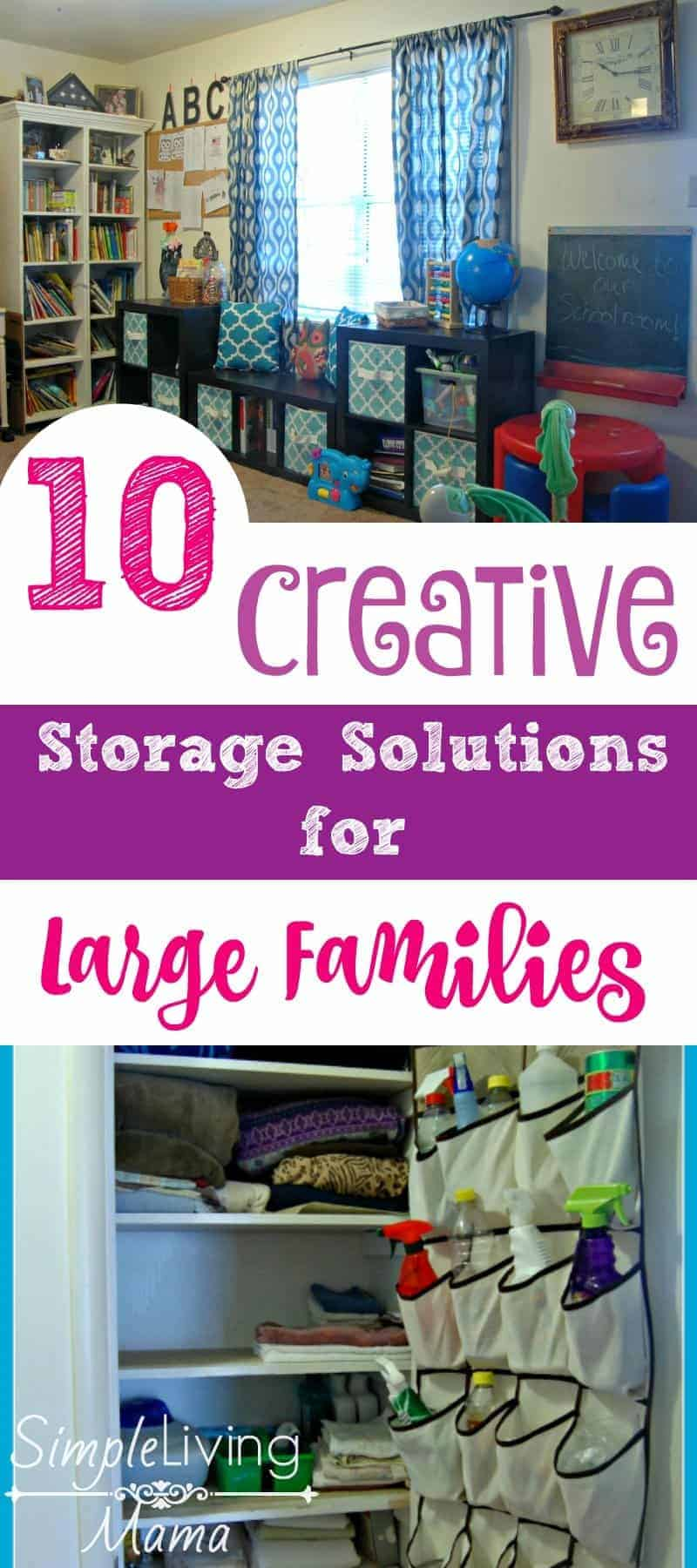 10 Creative Storage Solutions for Large Families