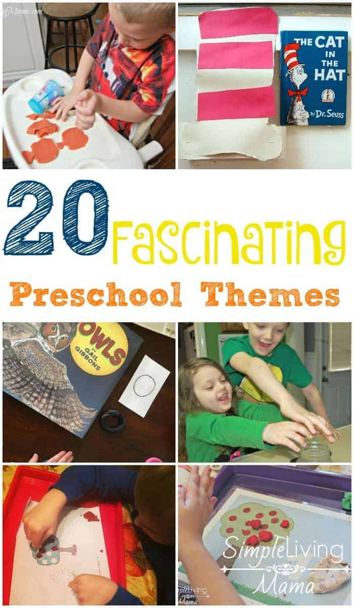 20 Fascinating preschool themes to help you plan an amazing preschool experience.