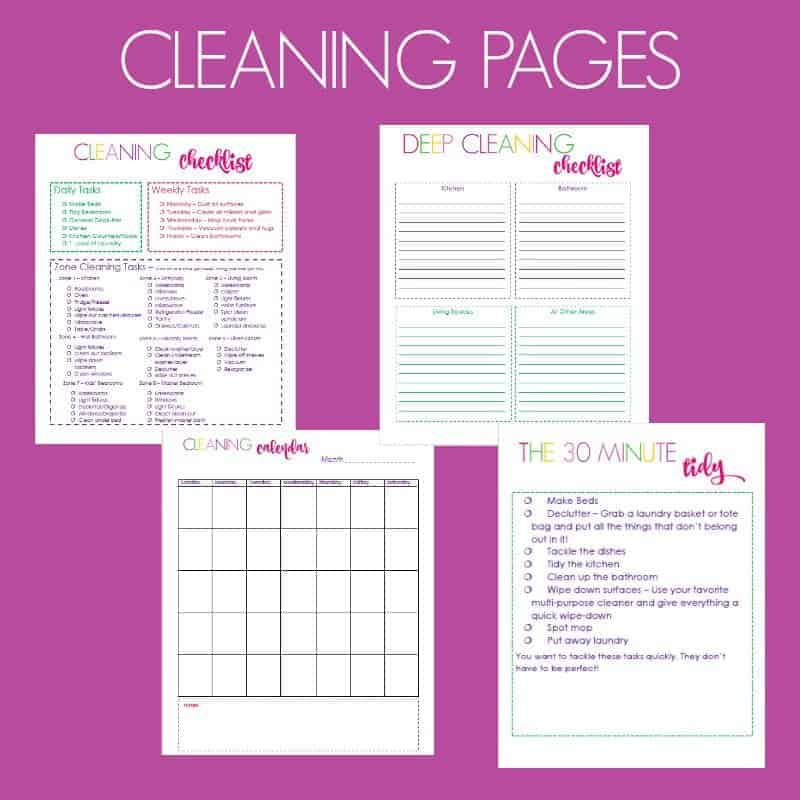 Clean and Organized Home Planner - Simple Living Mama