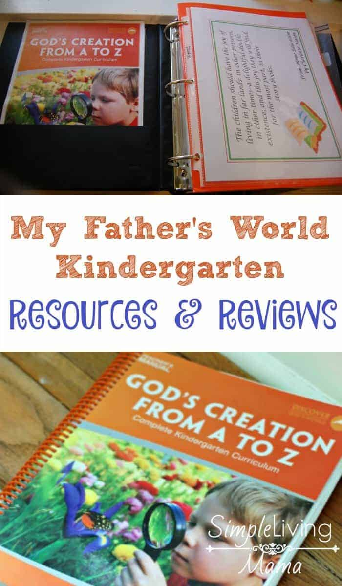 My Father's World Kindergarten Resources and Reviews