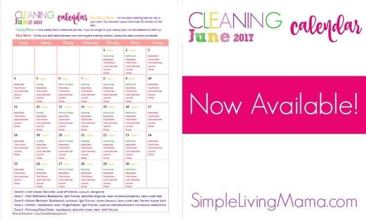 June Cleaning Calendar