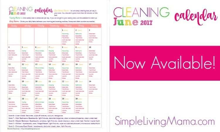June Cleaning Calendar