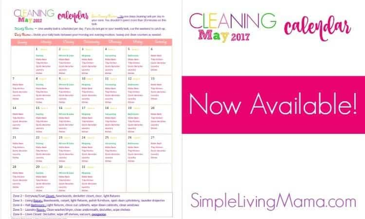 May Cleaning Calendar